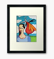 The Hairdresser Bird Framed Print