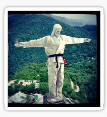 Jiu jitsu Jesus - Brazil Statue  Sticker