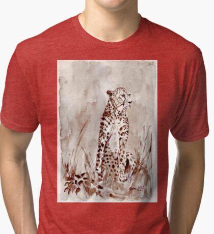 The Cheetah (Acinonyx jubatus)  Tri-blend T-Shirt