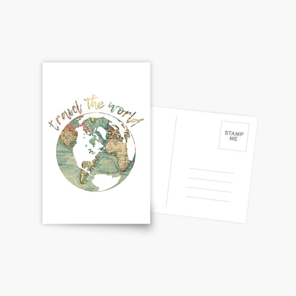 travel the world map Postcard