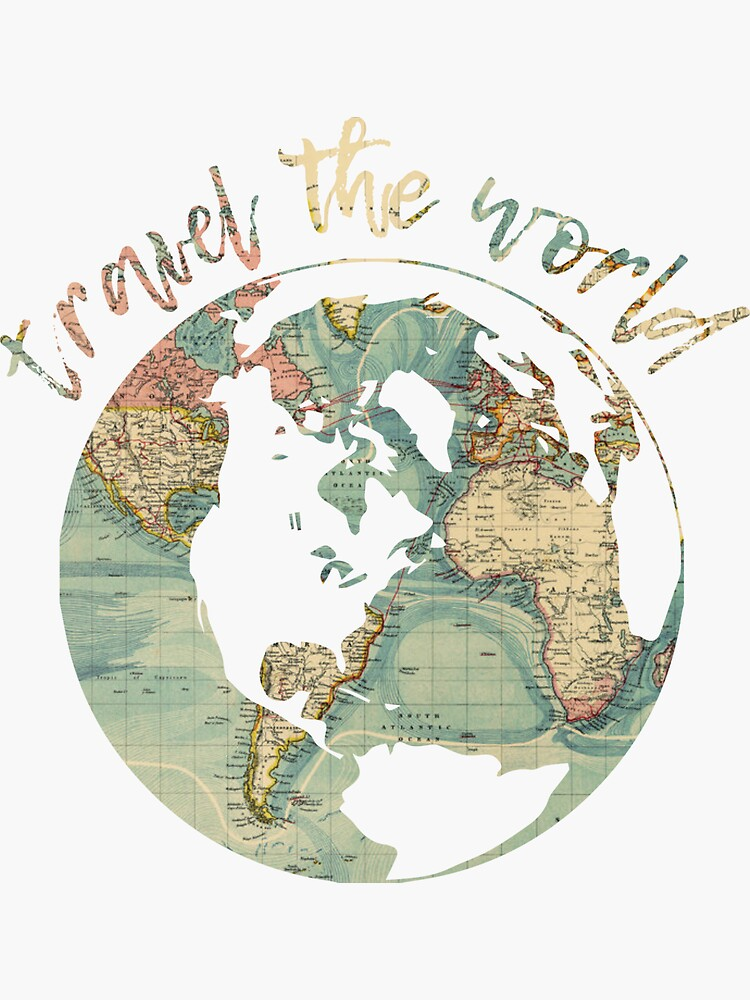 travel the world map by cgidesign