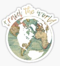 travel the world map Sticker