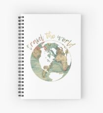travel the world map Spiral Notebook