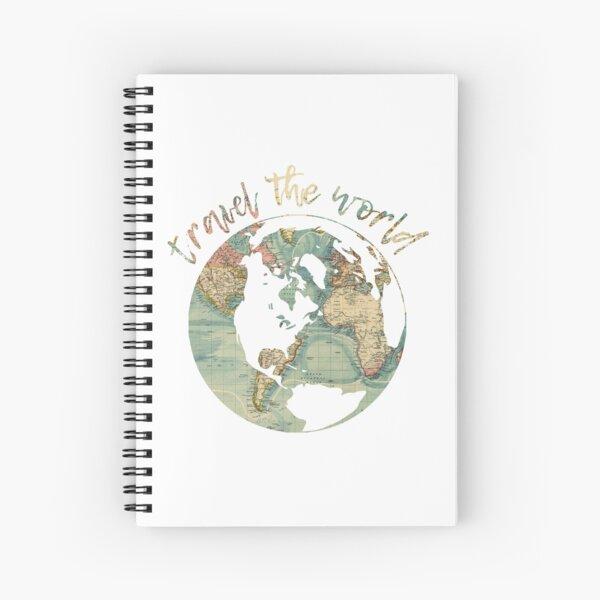 travel the world map Spiral Notebook