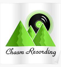 Chasm Recording Logo  Poster