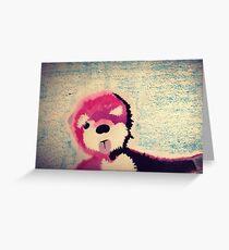ABQ Pink Bear Greeting Card