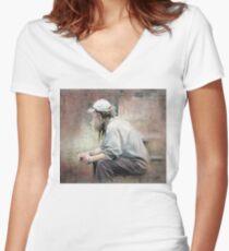 Meditation Women's Fitted V-Neck T-Shirt