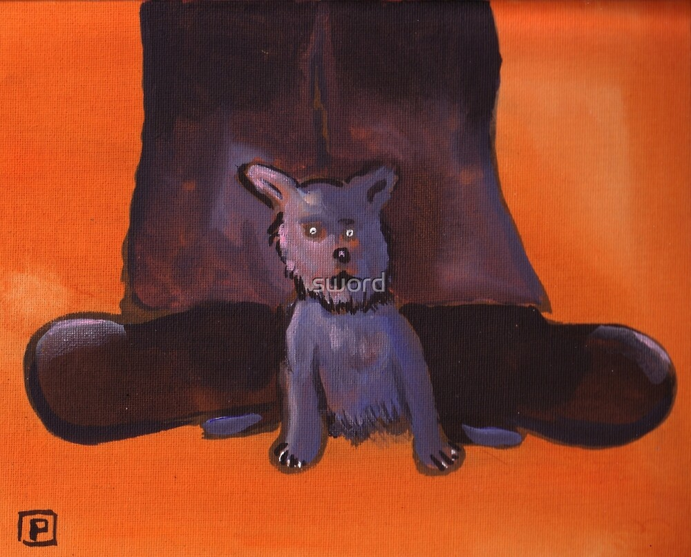 A mans best friend (from my original acrylic painting) by sword
