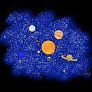 Sonnensystem von Dreamy Scribbles