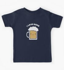 Cute I Love Beer  Kids Tee