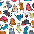 Shiny foil funky cats by peggieprints