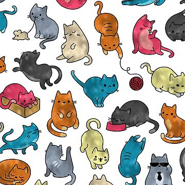 Gatos funky de lámina brillante de peggieprints