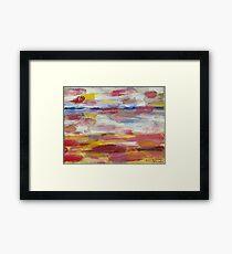 Abstract Beach Framed Print