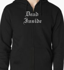 Dead Inside V1 Zipped Hoodie