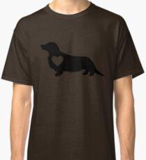 Long Haired Daschund Love Classic T-Shirt