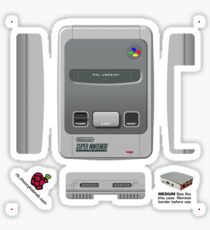 Nintendo SNES (Europe & UK) Skin for the Official case [Get the MEDIUM size] Sticker