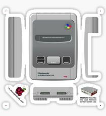 Nintendo Super Famicom Skin for the Official case [Get the MEDIUM size] Sticker