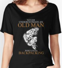 Basketball Never Underestimate Old Man Women's Relaxed Fit T-Shirt