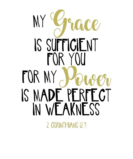 2 corinthians 12 9 bible scripture verse handwriting posters by