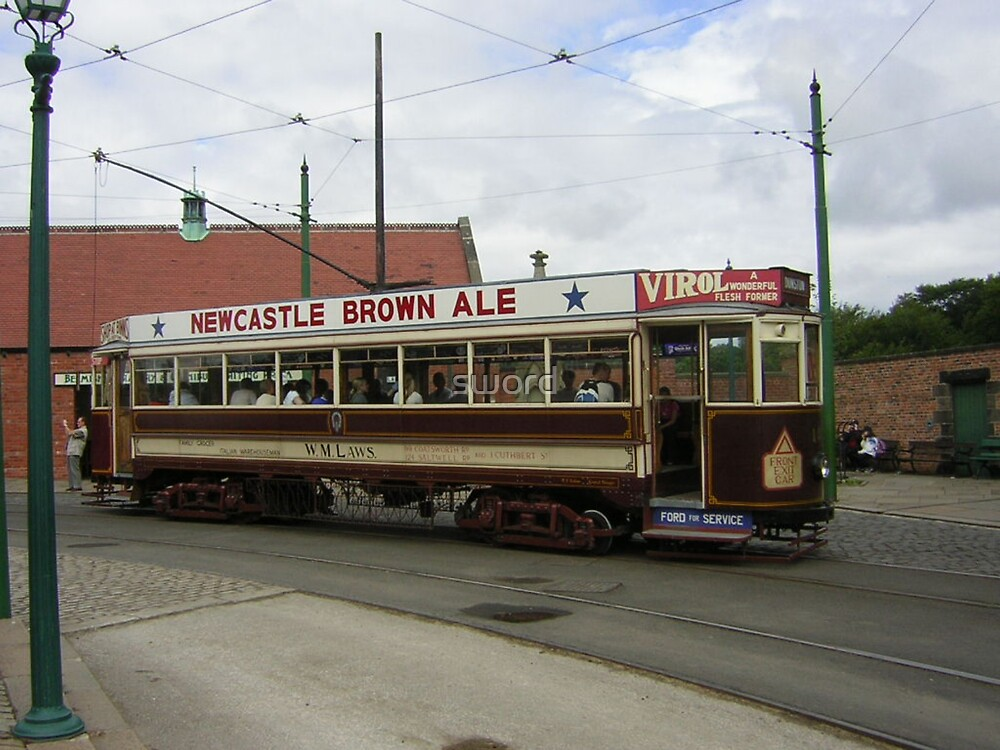 The tram by sword