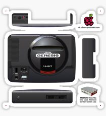 Sega Genesis Skin for the Official case [Get the MEDIUM size] Sticker