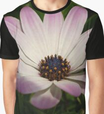 Side View of A Pink and White Osteospermum Graphic T-Shirt