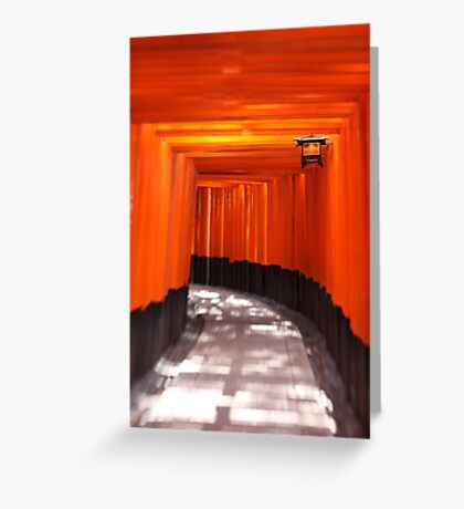 Red Passage Greeting Card