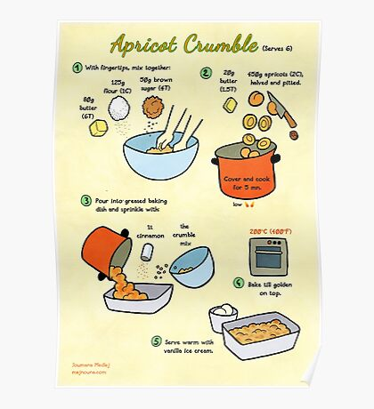 Recipe: Apricot Crumble Poster