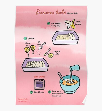 Recipe: Banana bake Poster