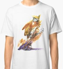 Owl and Guitar Classic T-Shirt