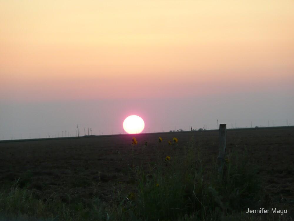 Flat Sunset by Jennifer Mayo