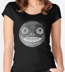 Nier — Emil [White on Black] Women's Fitted Scoop T-Shirt