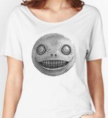 Nier — Emil [Black on White] Women's Relaxed Fit T-Shirt