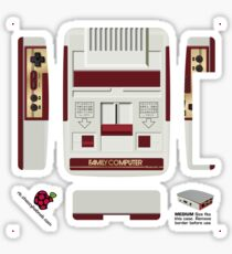 Nintendo Famicom Skin for the Official case [Get the MEDIUM size] Sticker