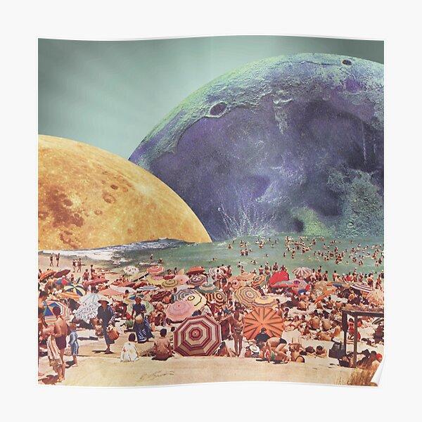Lunar Beach Poster