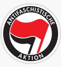 Antifa Anarcho-Communist Flag Antifaschistische Aktion Sticker