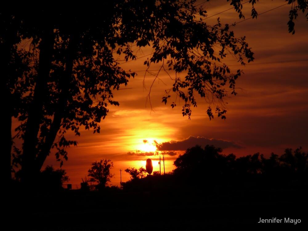 orange sunset 2 by Jennifer Mayo