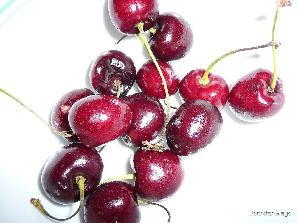 Bowl Full of Cherries by Jennifer Mayo