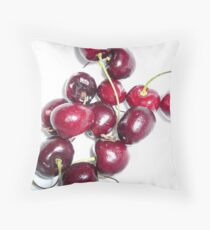 Bowl Full of Cherries Throw Pillow