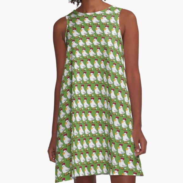 Pixel Chickens A-Line Dress