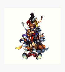 Kingdom Hearts 2 Squad Art Print