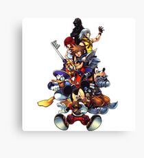 Kingdom Hearts 2 Squad Canvas Print