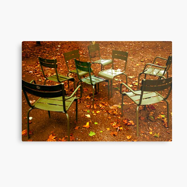 rainy day at Luxembourg Metal Print