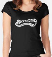 Rock is Dead Women's Fitted Scoop T-Shirt