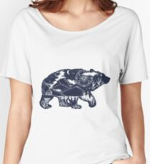 Bear double exposure Women's Relaxed Fit T-Shirt