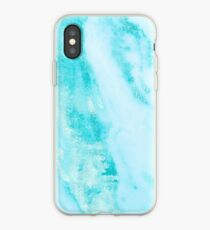 Teal Marble - Shimmery Teal Ocean Blue Turquoise Marble Metallic iPhone Case