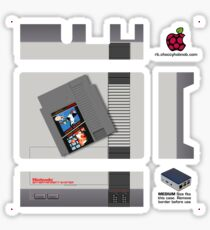 Nintendo Entertainment System + Mario & Duck Hunt Flirc [Get the MEDIUM size] Sticker