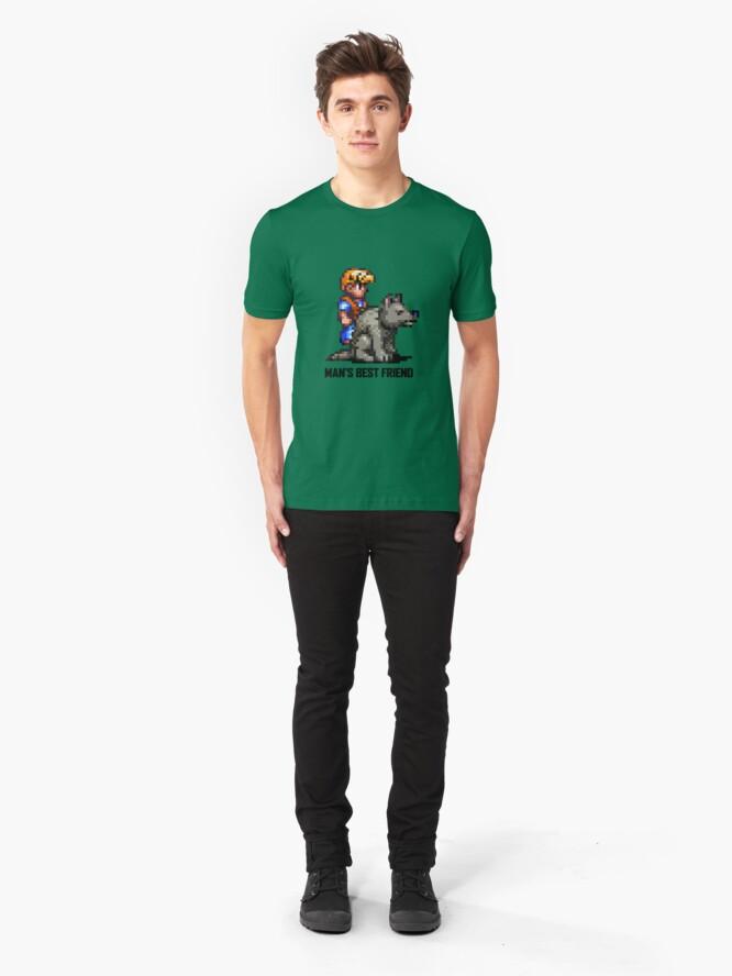 Alternate view of Man's Best Friend Slim Fit T-Shirt