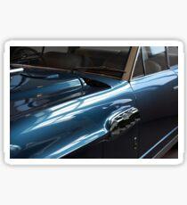 Front side of blue shining elegant car Sticker