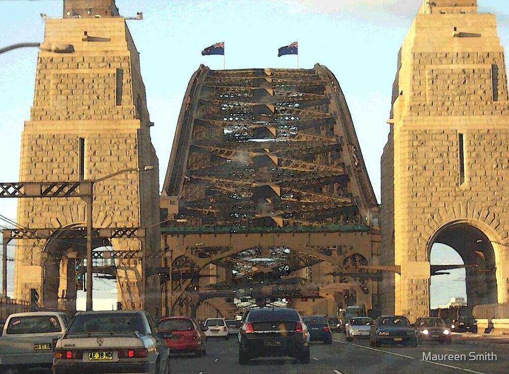 Approach to Sydney Harbour Bridge, Australia by Maureen Smith
